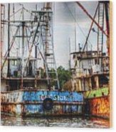Gulf Star At Rest Wood Print