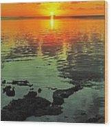 Gulf Sunset Wood Print