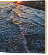 Gulf Sunset Wood Print by Perry Webster