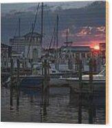 Gulfport Sunset Wood Print