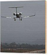 Gulfstream Approach Wood Print