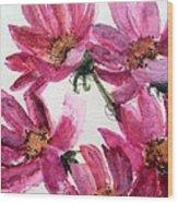 Gull Lake's Flowers Wood Print