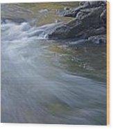 Gull River In Fall Wood Print
