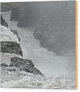 Gullfoss Waterfall Iceland Wood Print
