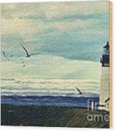 Gulls Way Wood Print by Lianne Schneider