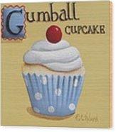 Gumball Cupcake Wood Print