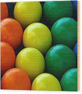 Gumballs Wood Print by April Wietrecki Green