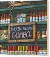 Gumbo Wood Print