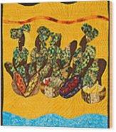 Gumbo Ladies Wood Print by Aisha Lumumba