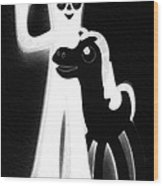 Gumby And Pokey B F F Black White Wood Print