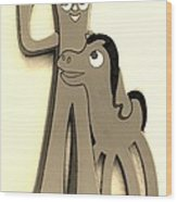 Gumby And Pokey B F F In Sepia Wood Print