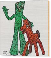 Gumby And Pokey Not For Sale Wood Print