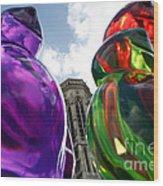 Gummy Bears In Paris Wood Print