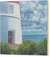 Gun Cay Lighthouse Wood Print