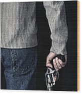 Gun Wood Print by Edward Fielding
