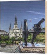 Gun General And God Wood Print