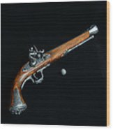 Gun - Musket With Musket Ball Wood Print