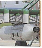 Gun Pod On A Slovakian Mi-17 Helicopter Wood Print