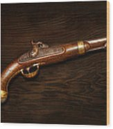 Gun - Us Pistol Model 1842 Wood Print