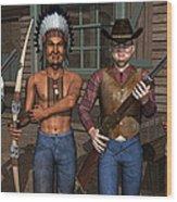 Gunfight At The Okey Dokey Corral Wood Print