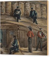 Gunners Of The Royal Regiment Wood Print