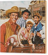 Gunsmoke Wood Print