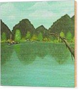 Guntersville Lake Wood Print