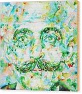 Gurdjieff- Watercolor Portrait Wood Print