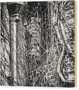 Gutter Pipe Wood Print