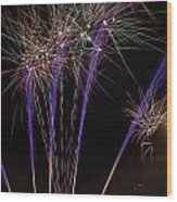 Guy Fawkes Night At Gloucester Quay Wood Print