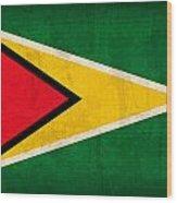 Guyana Flag Vintage Distressed Finish Wood Print