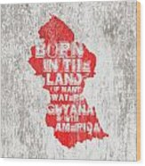 Guyana Map Wood Print