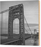 Gw Bridge Winter Sunrise Wood Print