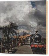 Gwr Steam Train Pulling Into Platform Wood Print