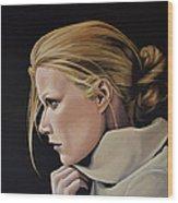 Gwyneth Paltrow Painting Wood Print
