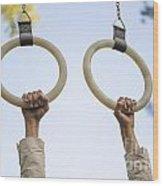 Gymnastic Rings Wood Print