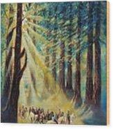 Gypsy Caravan Wood Print
