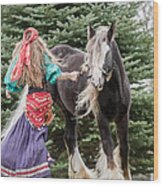 Gypsy Vanner Dance Wood Print