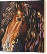 Gypsy Vanner Wood Print