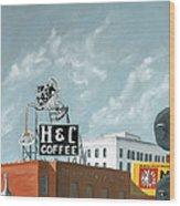 H And C Coffee Wood Print