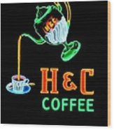 H And C Sign Wood Print