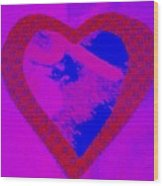H-heart Wood Print by Dorothy Rafferty
