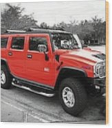 Red Hummer H2 Series  Wood Print