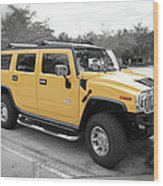 Hummer H2 Series Yellow Wood Print