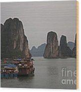 Ha Long Bay   Vietnam   #0521 Wood Print