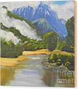 Haast River New Zealand Wood Print