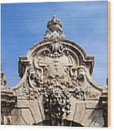 Habsburg Gate Details In Budapest Wood Print