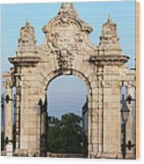 Habsburg Gate In Budapest Wood Print