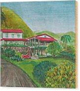 Hacienda Gripinas Old Coffee Plantation Wood Print