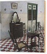 Hacienda Room Yaxcopoil Mexico Wood Print